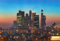 Top view of Moscow city skyline at night - PhotoDune Item for Sale