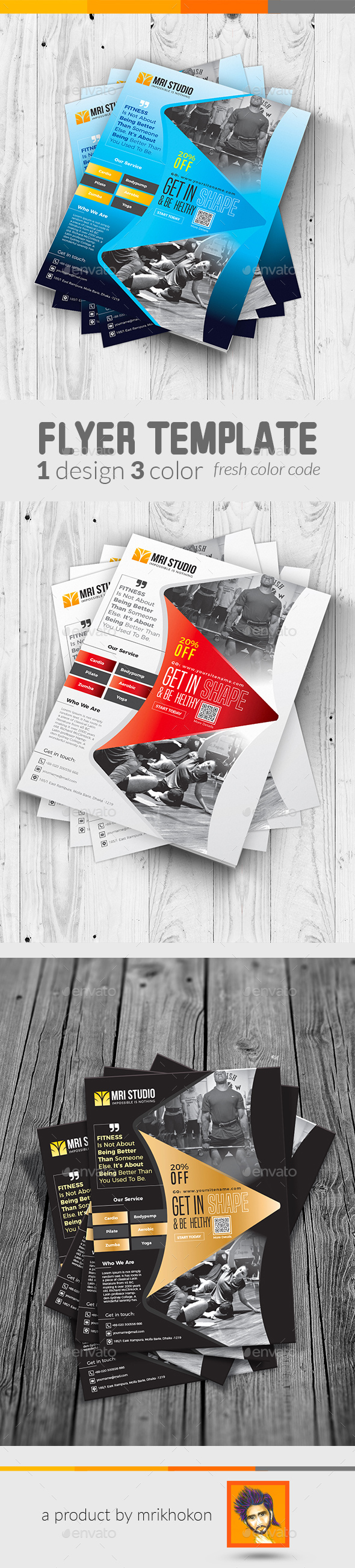 Fitness Flyer / Gym Flyer Template - Flyers Print Templates