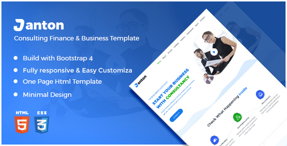 Janton - Consulting Finance Business HTML Template - Business Corporate