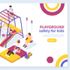 Kids Playground Isometric Concept