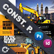Construction Postcard Bundle Templates
