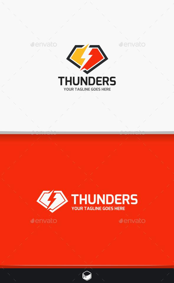 Thunder Lightning Logo - Symbols Logo Templates