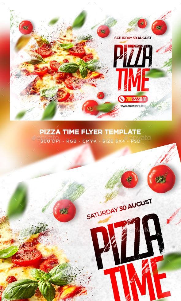 Pizza Time Flyer - Restaurant Flyers