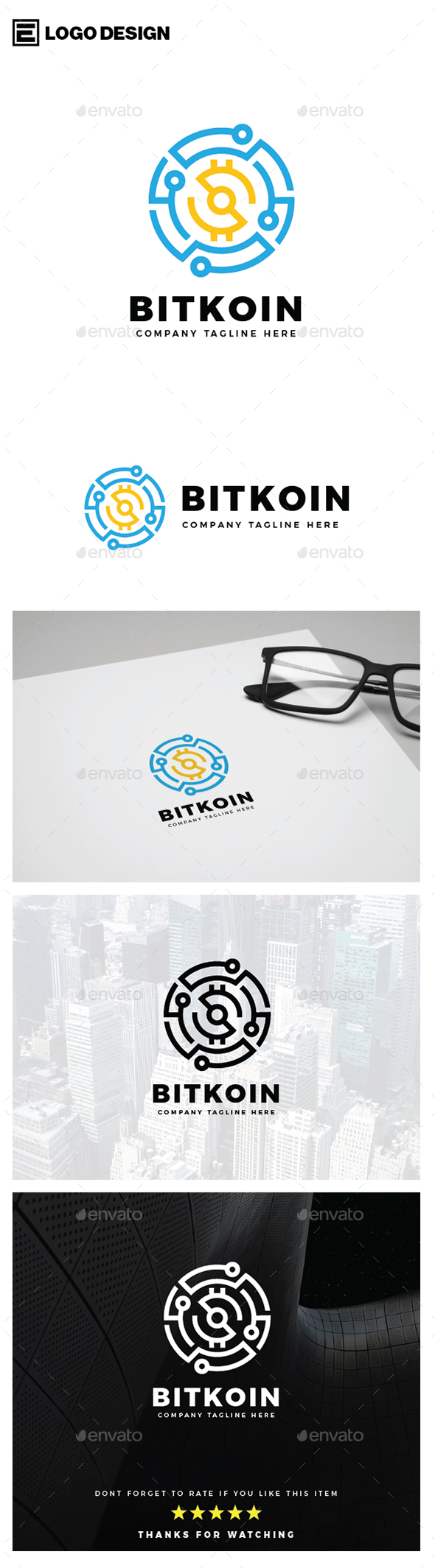 Bitcoin Logo - Symbols Logo Templates
