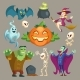 Vector Halloween Characters - GraphicRiver Item for Sale