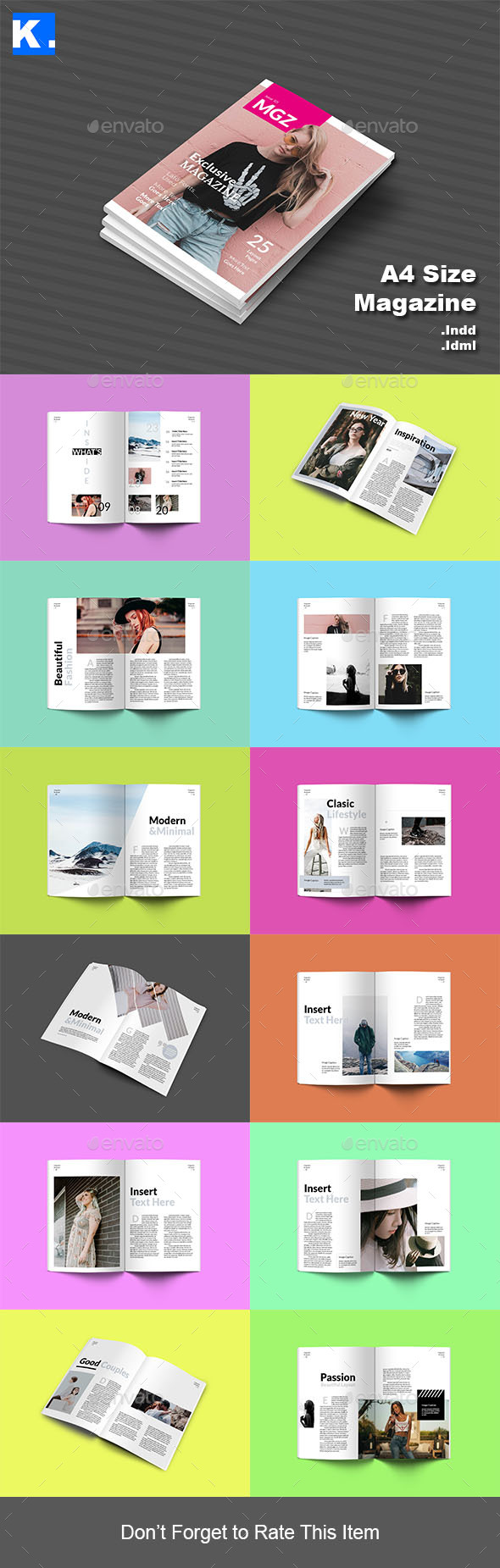 Indesign Magazine Template 11 - Magazines Print Templates