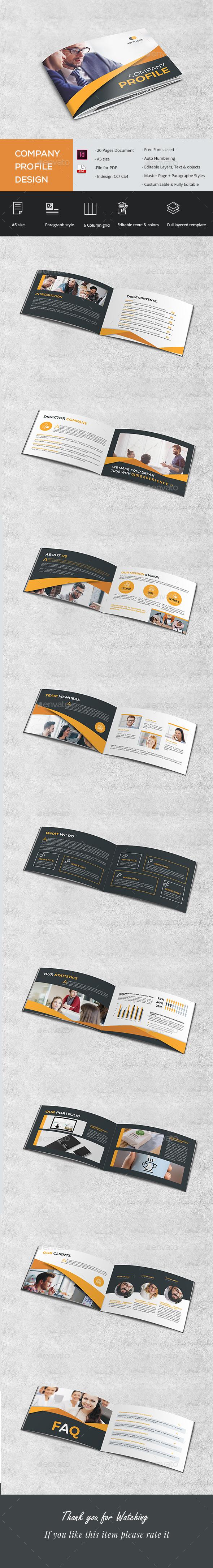 A5 Company Brochure - Brochures Print Templates