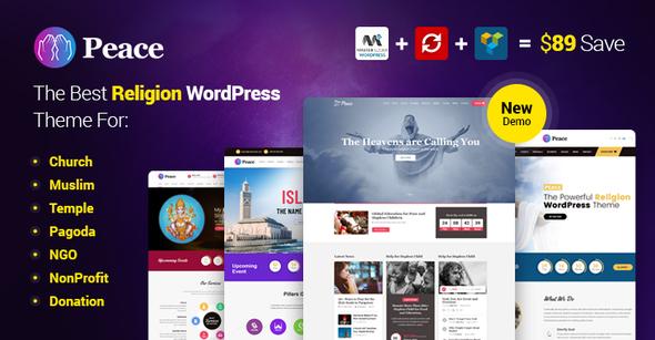 Peace - Church / Muslims / Temple WordPress Theme