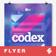 Free Download Codex vol.3 - Techno Party Flyer  Template A3 Nulled