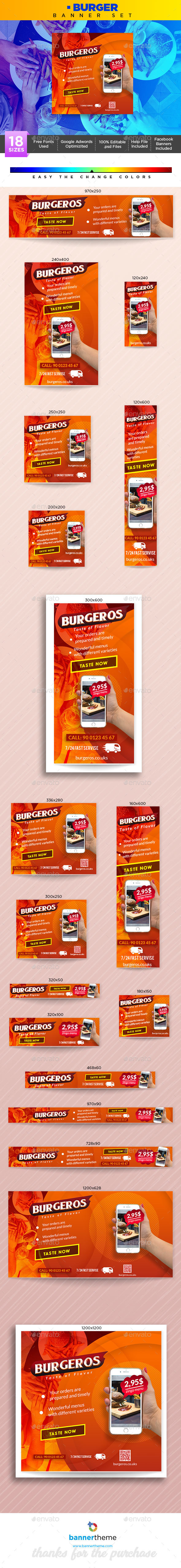 Burger Banner - Banners & Ads Web Elements