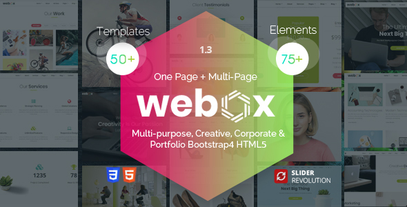 Webox - One Page Parallax