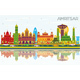 Amritsar India City Skyline with Color Buildings - GraphicRiver Item for Sale
