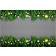 Fir Branch with Neon Lights and Stars on Transparent Background - GraphicRiver Item for Sale