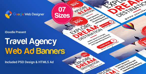 Travel Agency Banner HTML5 - Google Web Designer            Nulled