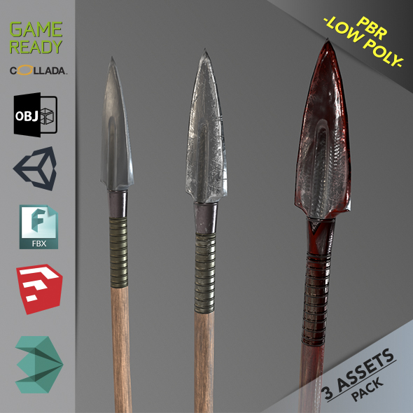 Spear 1 - 3DOcean Item for Sale