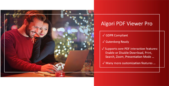Algori PDF Viewer Pro for WordPress Gutenberg            Nulled
