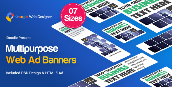 Multi Purpose Banners HTML5 D2 - Google Web Designer            Nulled