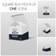 Box Mockup Square - GraphicRiver Item for Sale