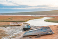 Fishing boats at sunset in the Olifants River estuary - PhotoDune Item for Sale