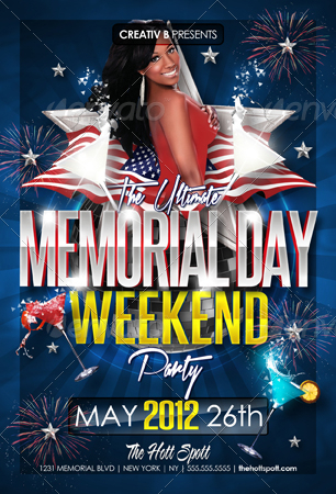 Memorial Day Weekend Party Flyer Templates By Creativb | Graphicriver