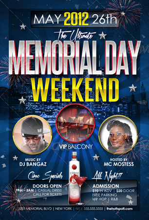 Memorial Day Weekend Party Flyer Templates By Creativb  Graphicriver