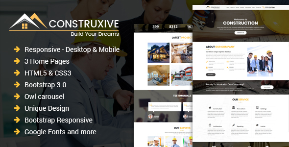Construcxive - One Page Construction HTML Template by hassan_malik19