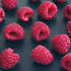 Ripe raspberries on a black background - PhotoDune Item for Sale