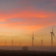 Silhouettes of wind turbines in fog at dawn near Hopefield - PhotoDune Item for Sale