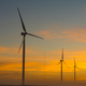 Silhouettes of wind turbines at dawn near Hopefield - PhotoDune Item for Sale
