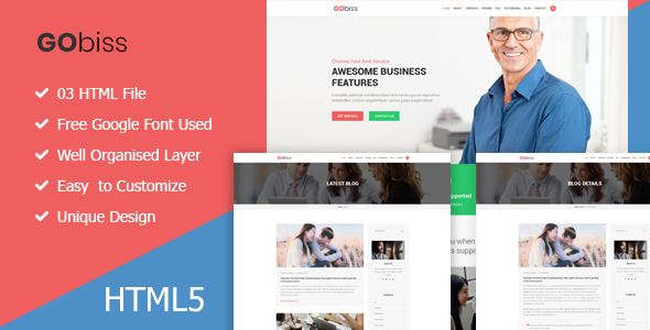 Gobiss  || Consulting and Corporate One Page HTML5 Template