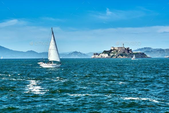 Alcatraz Island in San Francisco - Stock Photo - Images