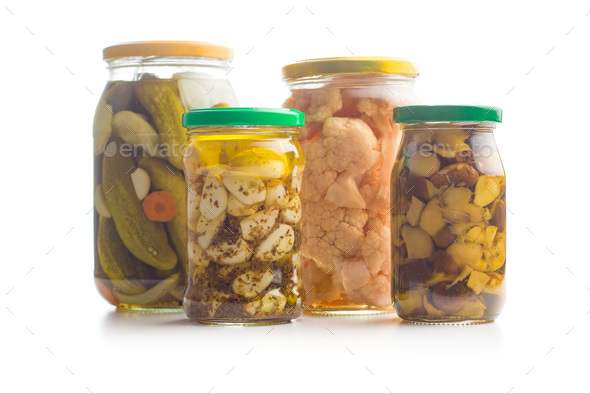 Pickled vegetable in jar. - Stock Photo - Images
