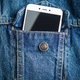 Smartphone in jeans jacket pocket. - PhotoDune Item for Sale