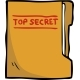 Cartoon Doodle Secret Folder