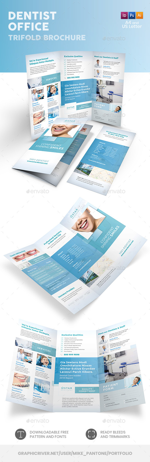 Dentist Office Trifold Brochure 6 - Informational Brochures