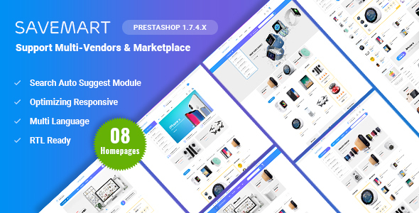 Savemart - Multi-Vendor & Marketplace eCommerce Prestashop 1.7 Theme - Shopping PrestaShop