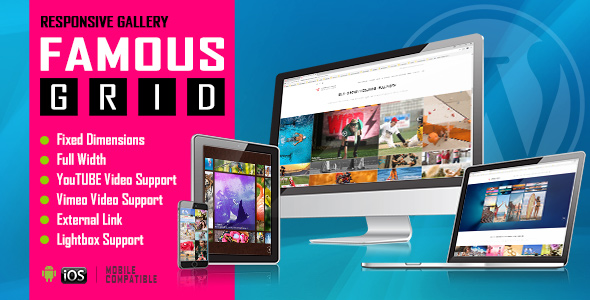 Famous - Responsive Image And Video Grid Gallery WordPress Plugin            Nulled