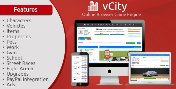 vCity - Online Browser Game Engine - CodeCanyon Item for Sale