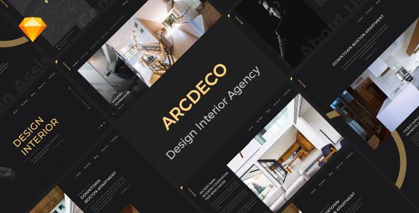 Arcdeco - Interior Design, Architecture & Decor Sketch Template - Sketch Templates