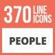 370 People Line Multicolor B/G Icons - GraphicRiver Item for Sale