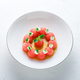 Watermelon salad with feta cheese and mint with olive oil, restaurant meal. - PhotoDune Item for Sale