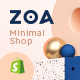 Free Download Zoa - Minimalist Shopify Theme Nulled