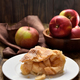 Piece of apple pie ad fresh fruits - PhotoDune Item for Sale