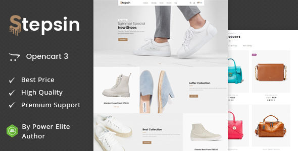 Stepsin - Multipurpose OpenCart 3 Theme - Fashion OpenCart