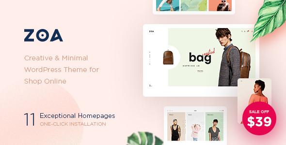 Zoa - Minimalist Elementor WooCommerce Theme - WooCommerce eCommerce