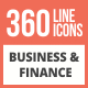 360 Business & Finance Line Multicolor B/G Icons - GraphicRiver Item for Sale