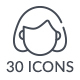 Free Download 30 Line Icon Set Nulled