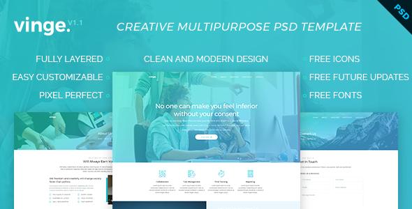 Vinge - Multi-Purpose PSD Template - Creative PSD Templates