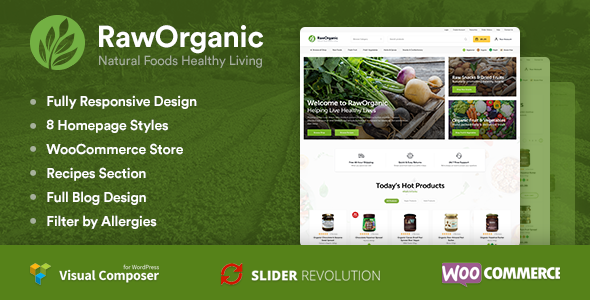 RawOrganic - Organic and Healthy Food Store - WooCommerce eCommerce