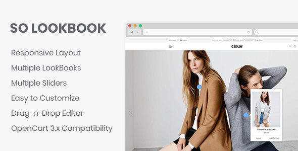 So LookBook - Responsive OpenCart 3 Theme            Nulled